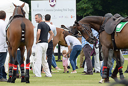 Catherine Duchess of Cambridge; Prince George of Cambridge, Maserati Jerudong Trophy Charity polo match, Cirencester Park Polo Club, 15 June 2014, Gloucestershire UK, Photo by Mike Webster