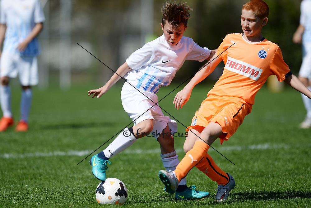 01.04.2017; Zuerich; Fussball Junioren - FCZ Uetliberg FE-13 - GC Limmattal - Francesco Magliulo (Zuerich)<br /> (Steffen Schmidt/freshfocus)