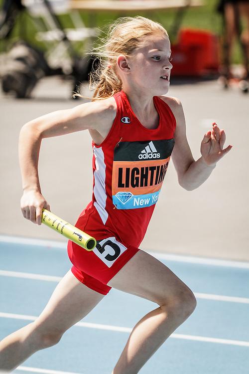 adidas Grand Prix Diamond League Track & Field: girls 4x100 youth relay, Lightning Track Club