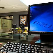 Computer monitor, Cancun, Mexico.