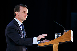 © Licensed to London News Pictures. 17/03/2017. Cardiff, UK. Welsh Secretary ALUN CAIRNS speaks at Conservative Spring Forum in Cardiff, Wales on 17 March 2017. Photo credit: Tolga Akmen/LNP