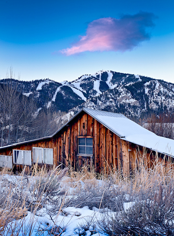 a rundown cabin in Ketchum Idaho, near Sun Valley
