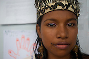 A school beauty pageant participant - Puerto Narino - Amazonas - Colombia