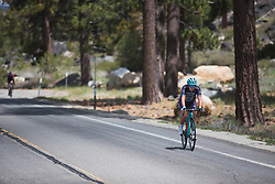 Manon Lloyd (GBR) of Trek-Drops Cycling Team tries to bridge the gap on Stage 2 of the Amgen Tour of California - a 108 km road race, starting and finishing in South Lake Tahoe on May 18, 2018, in California, United States. (Photo by Balint Hamvas/Velofocus.com)