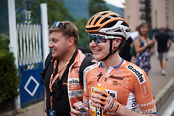 Megan Guarnier (USA) after Giro Rosa 2018 - Stage 5, a 122.6 km road race starting and finishing in Omegna, Italy on July 10, 2018. Photo by Sean Robinson/velofocus.com