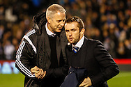 Kit Symons Manager of Fulham and Nathan Jones Manager of Brighton and Hove Albion before the Sky Bet Championship match at Craven Cottage, London<br /> Picture by David Horn/Focus Images Ltd +44 7545 970036<br /> 29/12/2014