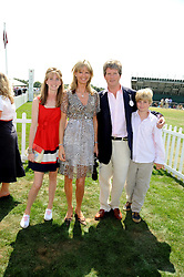 GUY & FIONA SANGSTER and their children ELLA-MAY and HUBIE at the Cartier International Polo at Guards Polo Club, Windsor Great Park on 27th July 2008.<br /> <br /> NON EXCLUSIVE - WORLD RIGHTS