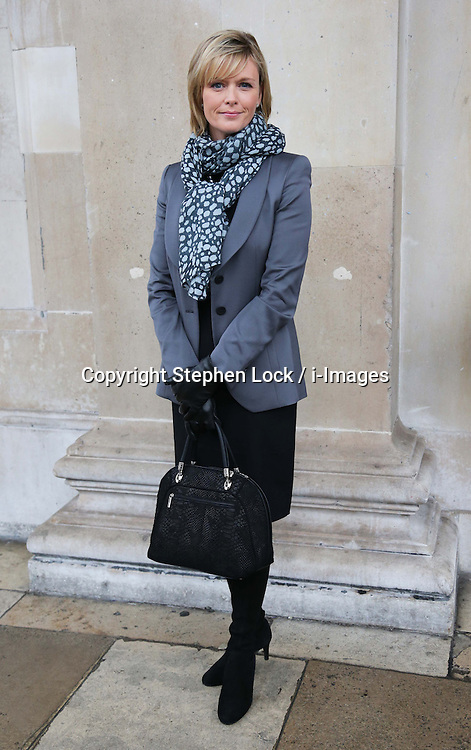 Julie Etchingham arriving for a memorial service for ITN newsreader Sir Alastair Burnet at St.Martin-in-the Fields church, London, Monday 12th November 2012 Photo by: Stephen Lock / i-Images