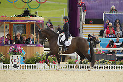 Dujardin, Charlotte, Valegro<br /> London - Olympische Spiele 2012<br /> <br /> Grand Prix Special, Teamwertung<br /> © www.sportfotos-lafrentz.de/Stefan Lafrentz