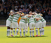 Celtic huddle - Dundee v Celtic SPFL Premiership at Dens Park<br /> <br />  - &copy; David Young - www.davidyoungphoto.co.uk - email: davidyoungphoto@gmail.com