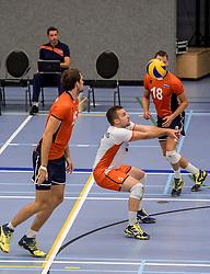 28-08-2016 NED: Nederland - Slowakije, Nieuwegein<br /> Het Nederlands team heeft de oefencampagne tegen Slowakije met een derde overwinning op rij afgesloten. In een uitverkocht Sportcomplex Merwestein won Nederland met 3-0 van Slowakije / Dirk Sparidans #5