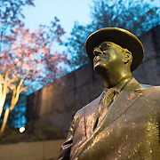Statue of President Franklin D. Roosevelt at the FDR Memorial in Washington DC.