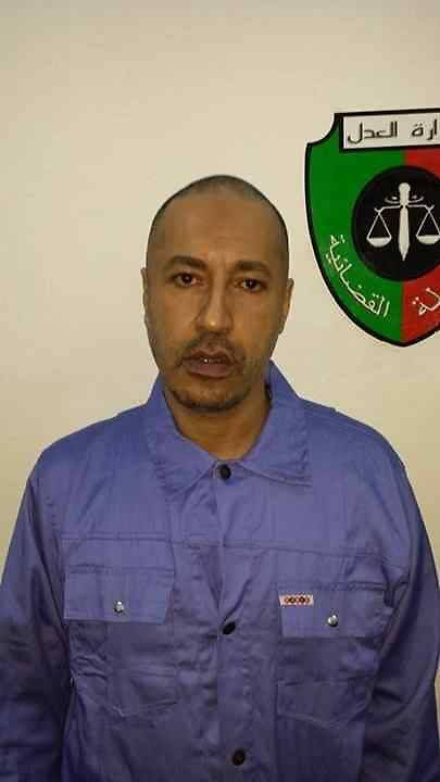 61174876<br /> Handout photograph shows Saadi Gaddafi, the son of Muammar Gaddafi, in the prison of Tripoli, Libya, on March 6, 2014. Niger has extradited Muammar Gaddafi s son Saadi Gaddafi, who fled as his father s regime crumbled in 2011 and was under house arrest in the desert West African nation ever since. Saadi Gaddafi arrived early on Thursday March 6, 2014 at the Tripoli airport and was transferred to a prison in the capital, Thursday, 6th March 2014. Picture by  imago / i-Images<br /> UK ONLY