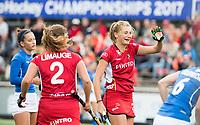 AMSTELVEEN -  Stephanie Van Den Borre (Bel)  tijdens Belgie-Tsjechie (dames) (6-0) bij de Rabo EuroHockey Championships 2017.    COPYRIGHT  KOEN SUYK