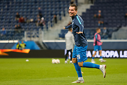 October 4, 2018 - Saint Petersburg, Russia - Anton Zabolotny of FC Zenit Saint Petersburg reacts during warm-up ahead of the Group C match of the UEFA Europa League between FC Zenit Saint Petersburg and SK Slavia Prague at Saint Petersburg Stadium on October 4, 2018 in Saint Petersburg, Russia. (Credit Image: © Mike Kireev/NurPhoto/ZUMA Press)