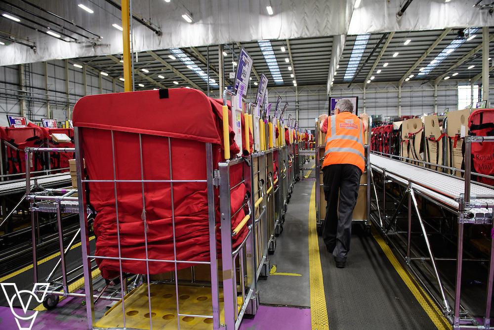 Stock / generic photographs taken at the Royal Mail's Yorkshire Distribution Centre, Normanton.  <br /> <br /> Tony Allen moving Yorks about<br /> <br /> Picture: Chris Vaughan Photography<br /> Date: November 15, 2016