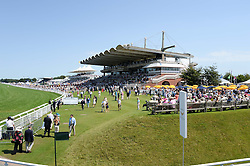 View at the 3rd day of the 2013 Glorious Goodwood racing festival - Ladies day at Goodwood Racecourse, West Sussex on 1st August 2013.