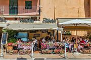 Charming outdoor cafe, Portoferraio, Elba, Tuscany, Italy, Europe.