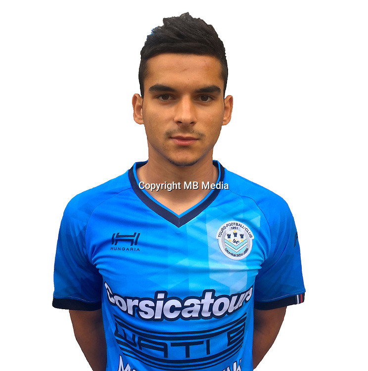 Florian Miguel during photocall of Tours FC for new season of Ligue 2 on October 9th 2016<br /> Photo : Fct / Icon Sport