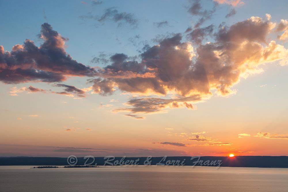 Lake Yellowstone at sunset