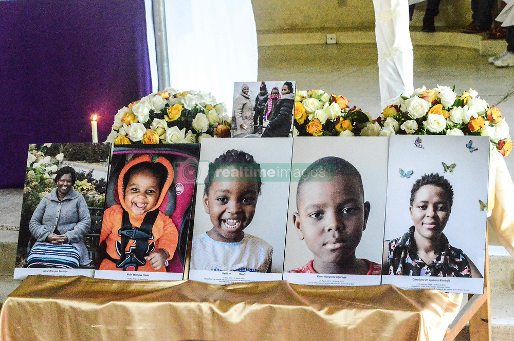 March 29, 2019 - Nakuru, Riftvalley, Kazakhstan - Portraits of the five members of one family seen during the service..St Michael Catholic church hosts a prayer service of the family that lost five of it's members in the Ethiopian Airlines Flight 302 crash on March 10 in Ethiopia at Hama Quntushele village. The government has pledged to support families affected by the tragedy. (Credit Image: © James Wakibia/SOPA Images via ZUMA Wire)