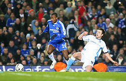 London, England - Tuesday, January 23, 2007: Chelsea's Salomon Kalou and Wycombe Wanderers' Russell Martin during the League Cup Semi-Final 2nd Leg match at Stamford Bridge. (Pic by Chris Ratcliffe/Propaganda)