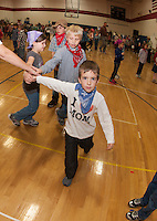 Annual Square Dance at Inter Lakes Elementary School November 8, 2012 (Karen Bobotas/for the Laconia Daily Sun)
