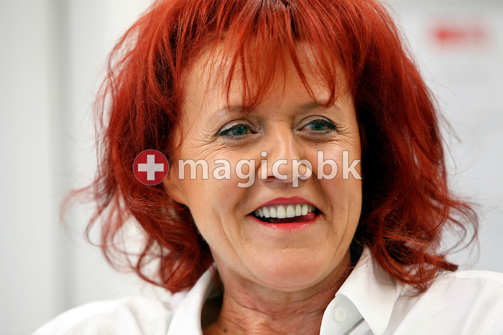 Heliane Canepa of Switzerland, wife of FC Zuerich (FCZ) president Ancillo Canepa (not pictured), is pictured during a discussion at her office in Zurich (Zuerich), Switzerland, Friday, Sept. 11, 2009. (Photo by Patrick B. Kraemer / MAGICPBK)