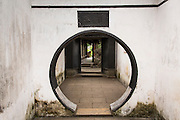 Circular doorway leading to the Exquisite Jade in Yu Yuan Gardens Shanghai, China