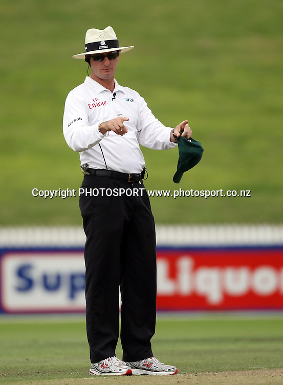 Umpire Rod Tucker.<br />
