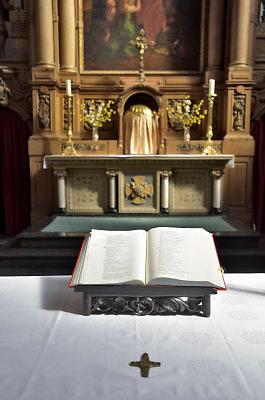 Nederland, Weert, 17-4-2018Achter de Paterskerk ligt de kloosterkapel van het Minderbroedersklooster Sint Hieronymus .Deze is onderdeel van het zorgcentrum dat in de gebouwen is gevestigd . Foto: Flip Franssen