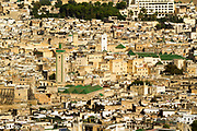 View of Fes el Bali historic Medina, Fez (Fes), Morocco, 2013-10-24.<br />