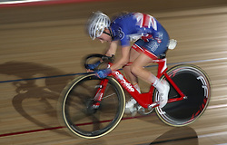 Action from the Women's Team Elimination race during day five of the Six Day Series at Lee Valley Velopark, London