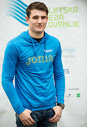Robert Renner during press conference when Slovenian athletes and their coaches sign contracts with Athletic federation of Slovenia for year 2016, on February 25, 2016 in AZS, Ljubljana, Slovenia. Photo by Vid Ponikvar / Sportida