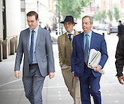 Andrew Marr Show arrivals <br /> at BBC Broadcasting House, London, Great Britain <br /> 18th September 2016 <br /> <br /> <br /> <br /> <br /> Nigel Farage MEP <br /> ex-leader of UKIP <br /> arriving to read the papers on the Marr show <br /> with Gawain Towler - UKIP head of press <br /> <br /> <br /> Photograph by Elliott Franks <br /> Image licensed to Elliott Franks Photography Services