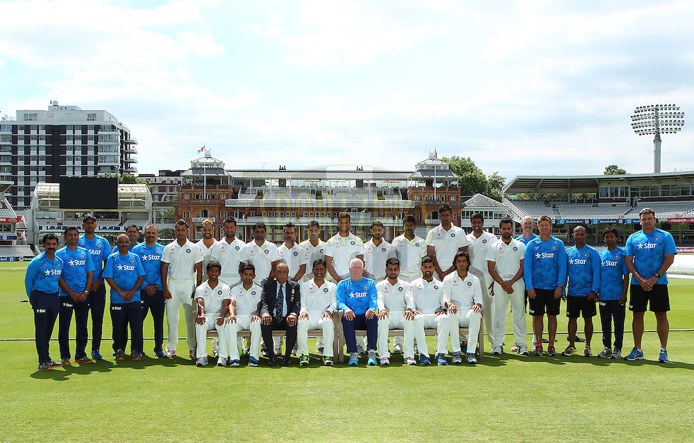 India squad photo during the Indian practice session held at Lords prior to the 2nd Investec test match between England and India held at Lords cricket ground in London, England on the 16th July 2014<br /> <br /> Photo by Ron Gaunt / SPORTZPICS/ BCCI