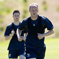 St Johnstone Training…<br />Steven Anderson pictured during pre-season training at McDiarmid Park <br />Picture by Graeme Hart.<br />Copyright Perthshire Picture Agency<br />Tel: 01738 623350  Mobile: 07990 594431