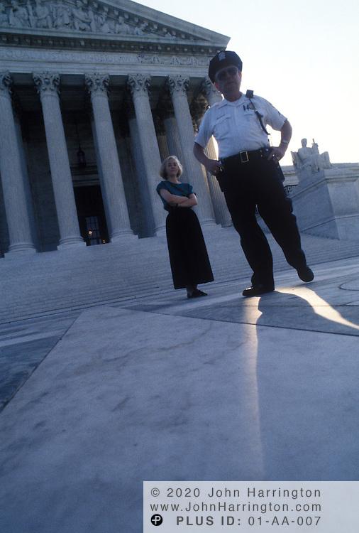 US Supreme Court guard.
