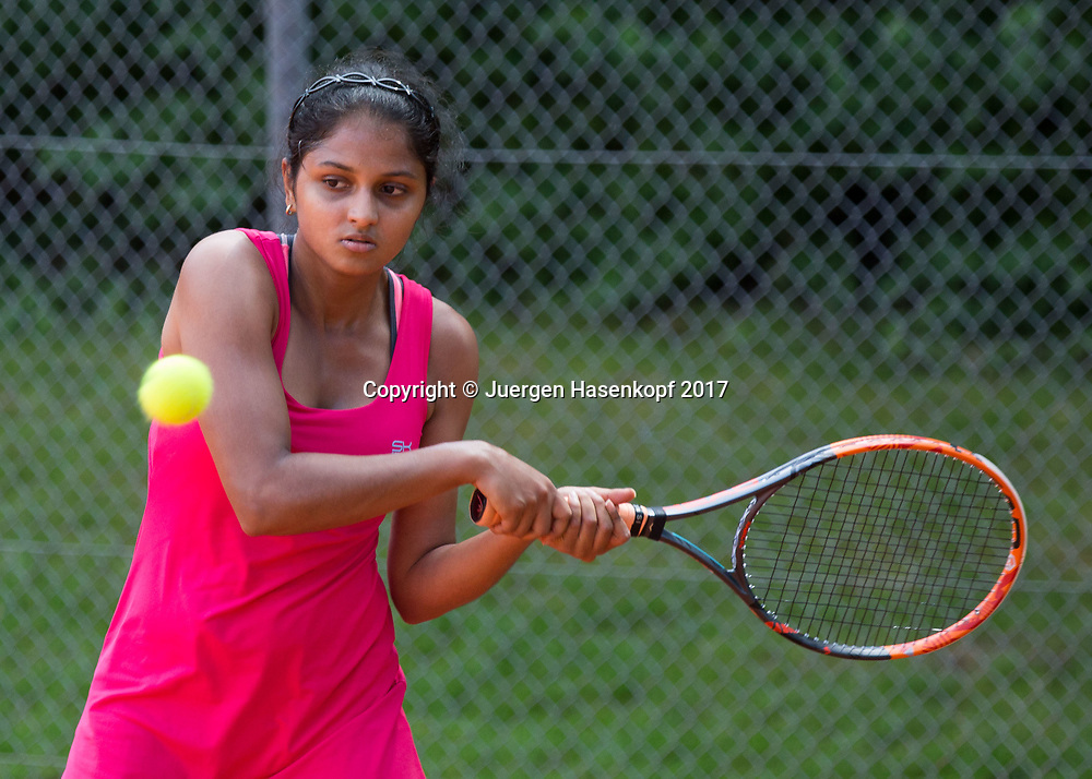 SHAMA RAGHAVAN (IND), Bavarian Junior Open 2017, Tennis Europe Junior Tour, GS 16<br /> <br /> Tennis - Bavarian Junior Open 2017 - Tennis Europe Junior Tour -  SC Eching - Eching - Bayern - Germany  - 8 August 2017. <br /> &copy; Juergen Hasenkopf