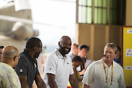 January 27 2016: Hall of Famer Jerry Rice during the Pro Bowl Draft at Wheeler Army Base on Oahu, HI. (Photo by Aric Becker/Icon Sportswire)