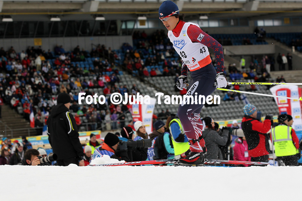 Norihito Kobayashi in his last Nordic Combined competition.