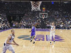 February 3, 2018 - Sacramento, CA, USA - The Sacramento Kings' Zach Randolph (50) follows through on a 3-point basket against the Dallas Mavericks at the Golden 1 Center in Sacramento Calif., on Saturday, Feb. 3, 2018. (Credit Image: © Hector Amezcua/TNS via ZUMA Wire)
