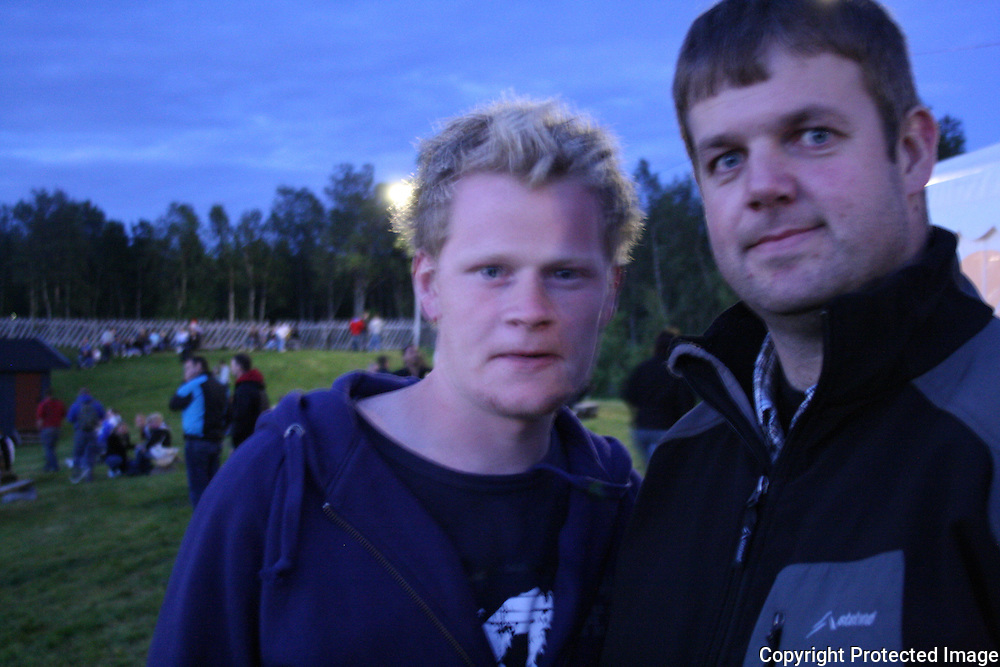 Geir Haarstad og Per Østbyhaug. Tydalsfestivalen 09. Foto: Bente Haarstad