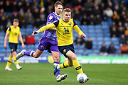 Oxford United defender defender (on loan from Columbus Crew SC) Chris Cadden (2) sprints forward with the ball during the EFL Sky Bet League 1 match between Oxford United and Shrewsbury Town at the Kassam Stadium, Oxford, England on 7 December 2019.
