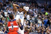 Mavericks' guard, O.J. Mayo (32), looks at Washington Wizards' Bradley Beal (3) before attacking the basket at the American Airlines Center in Dallas on November 14, 2012.  (Stan Olszewski/The Dallas Morning News)