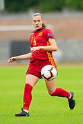 Anna Torroda (#6) of Spain during the UEFA Women's U19 European Championship match between England Women and Spain at Forthbank Stadium, Stirling, Scotland on 19 July 2019.