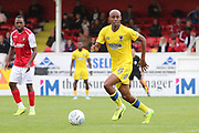 AFC Wimbledon Jimmy Abdou (8) dribbling during the Pre-Season Friendly match between Ebbsfleet and AFC Wimbledon at Stonebridge Road, Ebsfleet, United Kingdom on 29 July 2017. Photo by Matthew Redman.