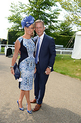 JEREMY KYLE and his wife CARLA at the 3rd day of the 2013 Glorious Goodwood racing festival - Ladies day at Goodwood Racecourse, West Sussex on 1st August 2013.