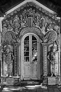 Shrine room entrance. Temple Square, near Dalada Maligawa in Kandy.