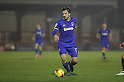 AFC Wimbledon midfielder Chris Whelpdale (11) during the EFL Trophy match between AFC Wimbledon and U23 Brighton and Hove Albion at the Cherry Red Records Stadium, Kingston, England on 6 December 2016. Photo by Stuart Butcher.